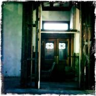 Beautiful wooden doors opening onto Queen Street - upper level