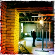 Brick walls and exposed ceilings - lower level