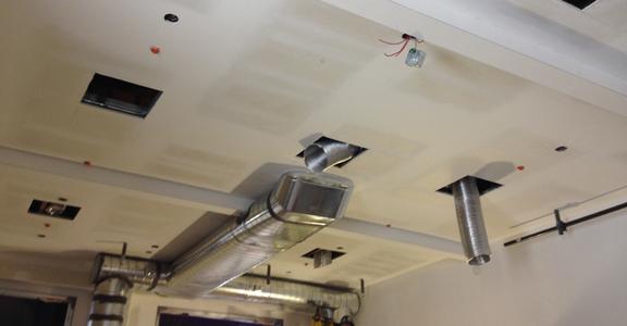 Upper lobby ceiling