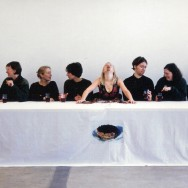 Image from The Chocolate Cake, 2000, by Silent Dinner artist Amanda Coogan
