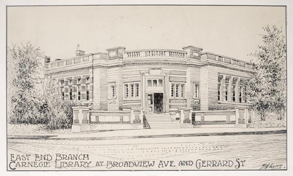 Carnegie east end branch sketch