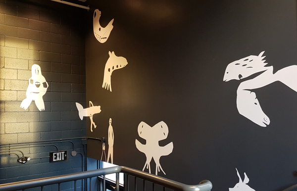 EOI gallery mural