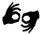 sign language interpretation symbol